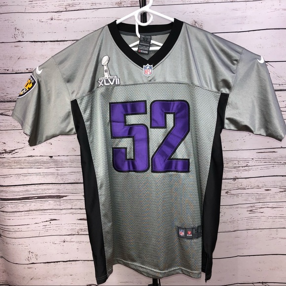 Ravens 52 Gray Shadow NFL Nike 2XL, XLVII Jersey
